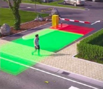 Fussgängerausblendung | Einbahnverkehr | Laserscanner für Schrankenanlagen